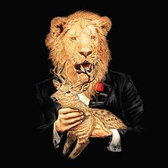 Leone (kooky love) Tags: animal movie lion deer leon leone lafraise donvitocorleone corleon
