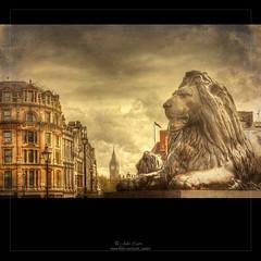 Trafalgar Square (Julio_Castro) Tags: london nikon trafalgarsquare bigben leon plazas londres 2470f28 nikond700 juliocastro
