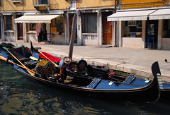 Venice - A Gondolier Gets Ready for His Next Trip