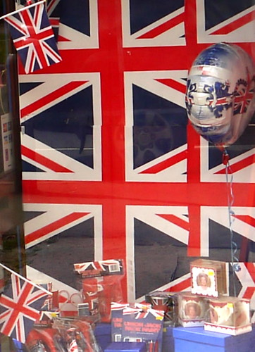 One of many shop windows decorated for the Jubilee