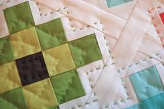 Gran Flakes (Happy Zombie) Tags: fabric cotton solids quilting granny michaelmiller quiltblocks grannysquares cottoncouture portlandmodernquiltguild