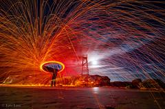 Spinstar! - Explored! (Bluemonkey08) Tags: spin australia nsw 2012 firetwirling steelwool modelshoot ericlam redheadbeach d7000 tokina1116mmf28atxpro supermoon bluemonkey08