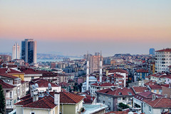 Istanbul Balcony View (raph.ae/) Tags: sunset panorama turkey istanbul mosque roofs hdr bosporus fulya mecidiyeky