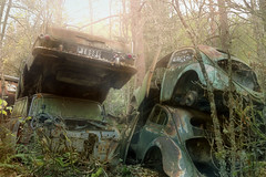 The car graveyard : (andre govia.) Tags: urban never cars abandoned graveyard car vw yard buildings bug dead photo rust shot photos decay andre explore stop exploration scrap lest rotton govia