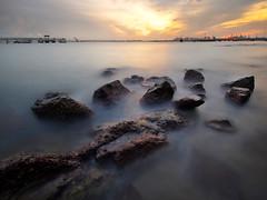 Broken Paths (night86mare) Tags: park seascape color beach landscape singapore long exposure labrador k5 blend 10mm nd106