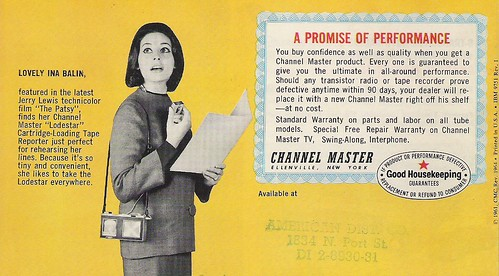 CHANNEL MASTER Radio, Television, Tape Recorder, Walkie Talkie and Interphone Brochure (USA 1961)_20