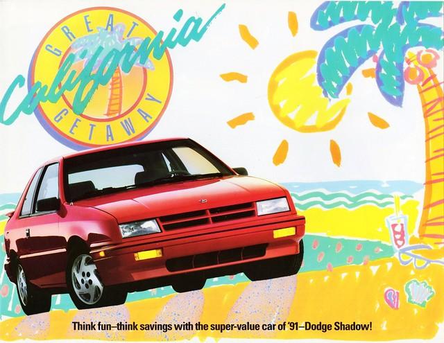 shadow america dodge 1991 brochure