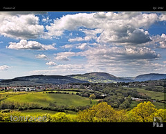 Sun Dappled Hills (tomraven) Tags: sun wales landscape countryside sigma hills pastoral dappled hdr valleys foveon x3 clods sd15 soithwales tomraven aravenimage flickrstruereflection1 flickrstruereflection2 q22012