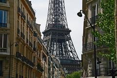Eiffel Tower Street (sparkeypants) Tags: city travel paris france canon geotagged europe eiffeltower toureiffel