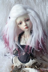dyed mohair wig commission for Laurence (heliantas) Tags: doll handmade wig mohair bjd commission dyed