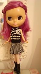Skirt + t-shirt Jack + comb + mirror Emily for Blythe doll