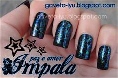 GAVETA LYU   Esmalte Impala   Paz e amor Flocado (Gaveta Lyu) Tags: flake polish nails impala unhas esmalte flocado flocados