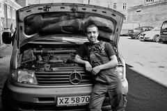 Mohammed (mly2000) Tags: auto bw copenhagen mercedes fuji garage mohammed x100 100strangers mly2000