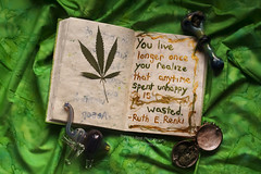(Theresa Best) Tags: inspiration green painting happy photography book weed paint quote smoke journal happiness best pot theresa 365 inspire unhappy marajuana 366 365project theresabest