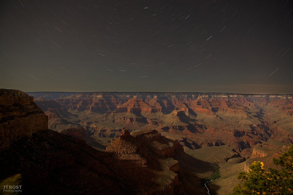 Travel By Moonlight - Grand Canyon & Bright Angel Trail