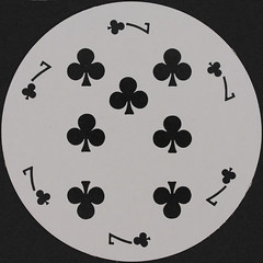 Round Playing Card 7 of Clubs (Leo Reynolds) Tags: playing club canon eos iso100 deck card round squaredcircle clubs 60mm f80 circular playingcard carddeck 40d hpexif 0077sec xleol30x sqset079