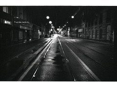 Milan at night (pearl`s) Tags: delta 3200 ilford m7 kprint