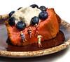 Project 366 - 6/16/2012 - 168/366 (cathy.scola) Tags: cake dessert miniature whitebackground ho littlepeople figurine 187 onwhite blueberries tinypeople hoscale hofigures project365 humanrepresentation