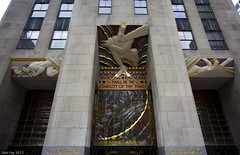 GE Building Entrance Art (Arathrael) Tags: newyork manhattan rockefellercenter 30rock gebuilding 30rockefellerplaza