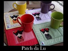 Mug Rug com caneca (Patch da Lu) Tags: mug rug japonezinha