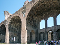 Basilica of Maxentius and Constantine, three bays with visitors