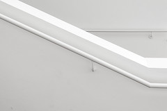 White handrail (Jan van der Wolf) Tags: white abstract monochrome museum architecture stairs composition indoor kln minimal stairway handrail minimalism wit minimalistic architectuur ludwigmuseum leuning monochroom minimalisme compositie map154240v