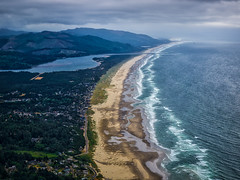 The view over Manzanita (Jim Nix / Nomadic Pursuits) Tags: travel sunset seascape beach rain fog oregon olympus hike pacificocean pacificnorthwest manzanita mirrorless neakahniemountain nomadicpursuits jimnix olympusomdem1