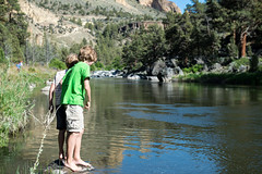 """""""did you see a crayfish?"""" (Ben McLeod) Tags: centraloregon swimming brothers liam myboys campbell crookedriver"""