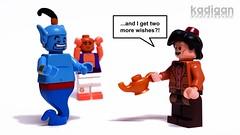 The Doctor's first wish (Kadigan Photography) Tags: lego disney fez doctorwho bbc wish aladdin genie minifigure