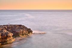 Long exposure at sunset (Sizun Eye) Tags: longexposure sea mer seascape coast nikon rocks mediterranean waves colours pastel malta le d750 tamron rochers malte southerneurope 2470mm littoral dwejrabay mediterranne poselongue sizun europedusud tamron2470mmf28 sizuneye