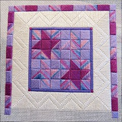 Friendship Star, as of 5/25/16 (Needleloca) Tags: needlepoint wips ribbet 2016 canvaswork laurajperin
