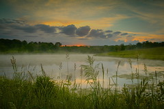 Krumm pond sunrise (wdterp) Tags: morning lake sunrise dawn pond iowa jaspercounty jacobkrummnatureprreserve