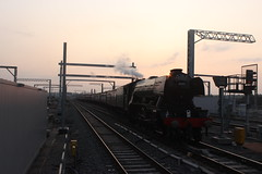 The Flying Scotsman (Emma Spanswick) Tags: travel friends black station train reading evening track tour display transport engine rail railway trains funday steam read railwaystation trainstation engines transportation railtour thrash railwayline explode trainspotting steamengine daytrip steamtrain steaming dayout trainspotter steamlocomotive enthusiasts spotters railwaysstation steamdays