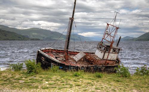 Wrecked trawler by Loch Linnhe
