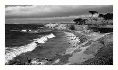 Lover's Point Pacific Grove, CA (Joe Franklin Photography) Tags: ocean california blackandwhite bw coast pacific cypress pacificgrove westcoast loverspoint wavers almostanything