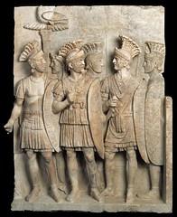 Ancient Rome. Relief of Julio Claudian Praetorian Guard, Julio Claudian Period. (mike catalonian) Tags: relief ancientrome 1stcenturyad praetorianguard julioclaudianperiod