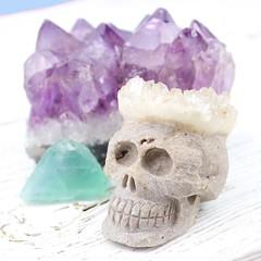 Gemstone love!! (SapientiaJewelry) Tags: witch hippie amethyst spiritual boho quartz psychic wicca bohemian gemstone crystalskull druzy amethystcluster crystalhealing quartzskull