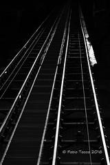 funicolare (Fabio Tacca) Tags: funicolare fabiotacca italy piedmont biella funicular tracks wagon slope binari vagone pendenza streetphotography blackandwhite biancoenero riflessi reflections acofficinafotografica nikond3300 light luce backlight