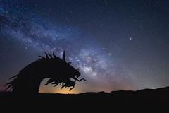 Ran into Daenerys Targaryen's Dragon the other Night! (pixelmama) Tags: california nightphotography sculpture stars dragon desert astrophotography anzaborrego milkyway borregosprings galletameadows pixelmama nikond610