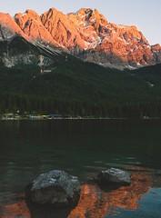 The Zugspitze, Germany's highest peak. (AustinClark10) Tags: travel world hike outside weekend alpenglow vintage photography art instagram camera sunset beautiful nikon germany nature landscape