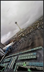 ISlipped (Geo_grafics) Tags: city vegas panorama clouds nikon pano vert highrise tilt stratosphere  turnberry turnberrytowers vertorama