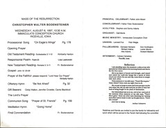 Christopher Bodensteiner's Funeral Program