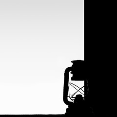 """""""Between white and black"""" (helmet13) Tags: d700 raw minimalist bw oillamp black white grey silhouette graphical space between backlight aoi studies 100faves world100f simplicity"""