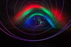 Coloured Tunnel (Ellieslion) Tags: longexposure light lightpainting culvert dlw ellieslion