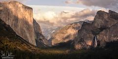 Yosemite Valley (Seth Christie) Tags: california park sunset waterfall national yosemite halfdome yosemitenationalpark elcapitan bridalveilfalls yosemitevalley tunnelview