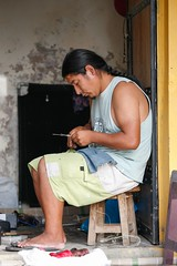 Making Handicrafts (Alex E. Proimos) Tags: portrait industry peru handicraft working craft micro local peruvian entrepreneur