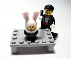 The rabbit in the hat (KadasBence) Tags: new rabbit hat fun toy toys cool interesting lego good magic badass great creative bad silk mini best special creation figure decal trick custom figures exciting magician creations moc cilinder minifigures