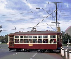 Brill 'Birney Safety Car' 303 (railfan3) Tags: road old classic public car vintage metro transport australian twin tram australia retro safety adelaide 1978 trans brill greenhill museumtram trolleys gclass axle 303 streetcars centenary mtt bayline typeg birney tramcars adelaidetram adelaidetrams strassenbahnwagen metroadelaide