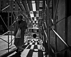 game of life (Detroit 2012) (.brianday) Tags: man bus detroit dot scaffold