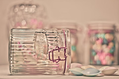 Candy (Serena178) Tags: candy bokeh lolly pastels candies lollies jars gumballs flyingsaucers